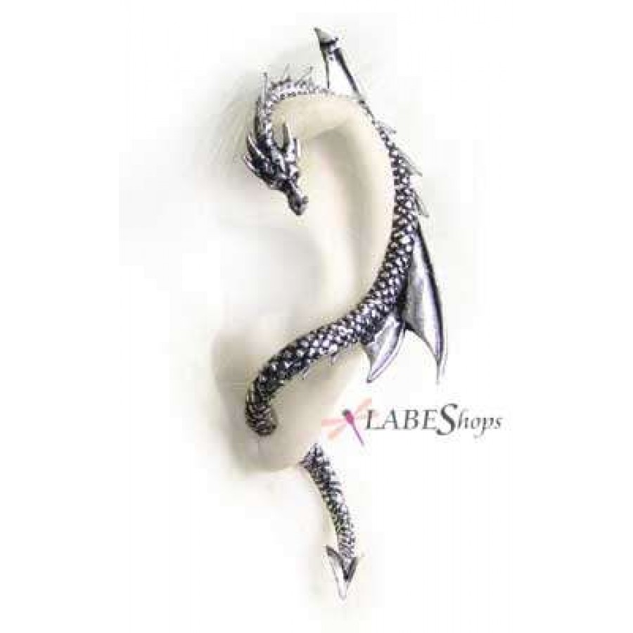 Dragons Lure Earring Wrap  Left Ear At Gothic Plus, Gothic Clothing,  Jewelry,