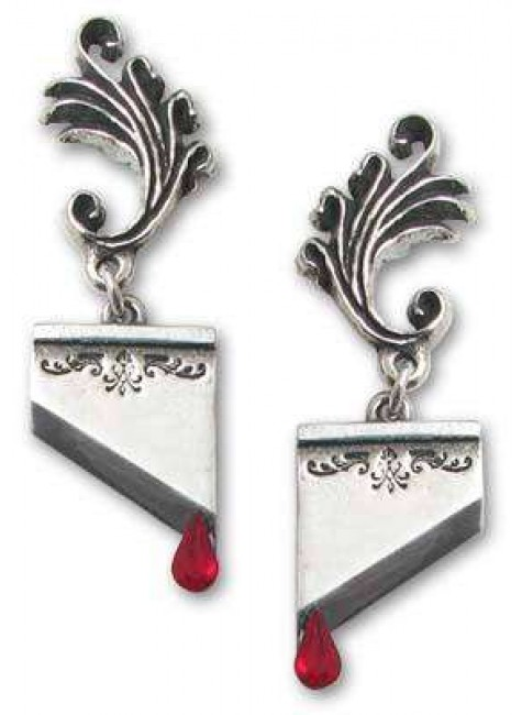 Marie Antoinette Blade Earring Pair at Gothic Plus,  Gothic Clothing, Jewelry, Goth Shoes, Boots & Home Decor
