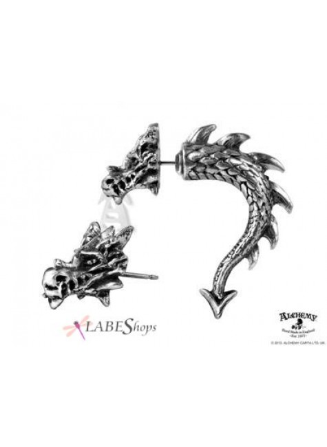 Tor Dragon Faux Stretcher Earring at Gothic Plus, Gothic Clothing, Jewelry, Goth Shoes & Boots & Home Decor