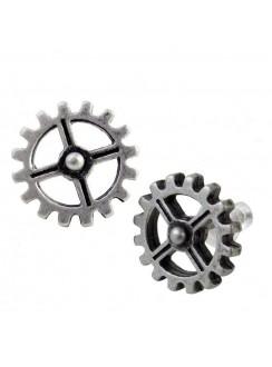 Industrilobe Steampunk Gear Earring Pair