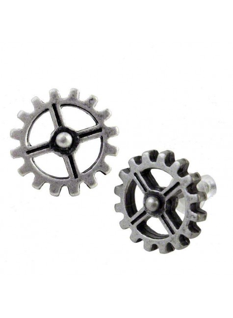 Industrilobe Steampunk Gear Earring Pair at Gothic Plus,  Gothic Clothing, Jewelry, Goth Shoes, Boots & Home Decor