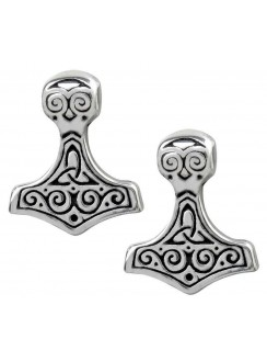 Thor Hammer Pewter Earrings Gothic Plus Gothic Clothing, Jewelry, Goth Shoes & Boots & Home Decor