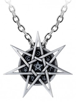 Elven Star Mystic Necklace Gothic Plus Gothic Clothing, Jewelry, Goth Shoes & Boots & Home Decor