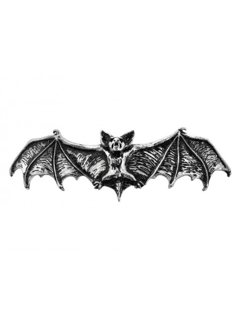 Darkling Bat Pewter Hair Slide at Gothic Plus, Gothic Clothing, Jewelry, Goth Shoes & Boots & Home Decor