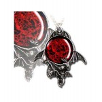 Blood Moon Pewter Bat Necklace