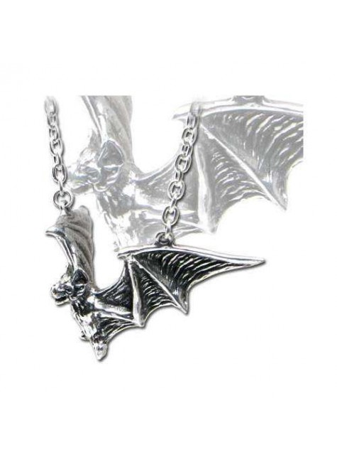 Om Strygia Pewter Bat Necklace at Gothic Plus, Gothic Clothing, Jewelry, Goth Shoes & Boots & Home Decor