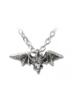 Kiss of the Night Pewter Bat Necklace Gothic Plus Gothic Clothing, Jewelry, Goth Shoes & Boots & Home Decor