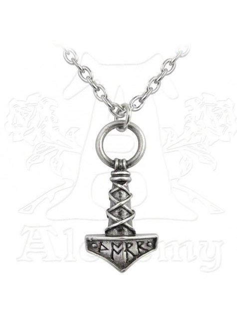 Thors Hammer Pewter Amulet Pendant at Gothic Plus, Gothic Clothing, Jewelry, Goth Shoes & Boots & Home Decor