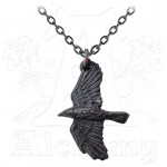 Ravenine Black Raven Pewter Necklace