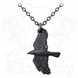 Ravenine Black Raven Pewter Necklace Gothic Plus Gothic Clothing, Jewelry, Goth Shoes & Boots & Home Decor