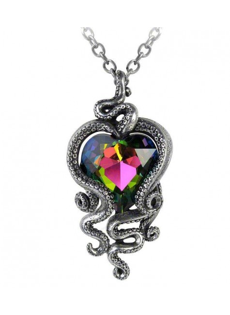 Heart of Cthulhu Gothic Swarovski and Pewter Necklace at Gothic Plus, Gothic Clothing, Jewelry, Goth Shoes & Boots & Home Decor