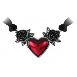 Blood Heart Black Rose Heart Pewter Necklace Gothic Plus Gothic Clothing, Jewelry, Goth Shoes & Boots & Home Decor