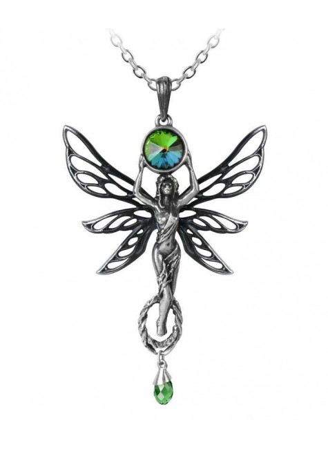 Green Goddess Absinthe La Fee Vert Necklace at Gothic Plus, Gothic Clothing, Jewelry, Goth Shoes & Boots & Home Decor