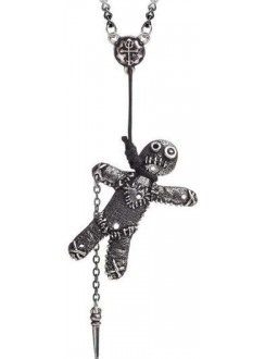 Voodoo Doll Pewter Pendant Gothic Plus Gothic Clothing, Jewelry, Goth Shoes & Boots & Home Decor