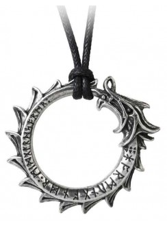 Jormungand World Serpent Ouroboros Pendant Gothic Plus Gothic Clothing, Jewelry, Goth Shoes & Boots & Home Decor
