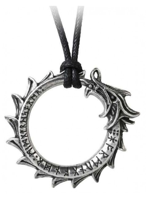 Jormungand World Serpent Ouroboros Pendant at Gothic Plus, Gothic Clothing, Jewelry, Goth Shoes & Boots & Home Decor