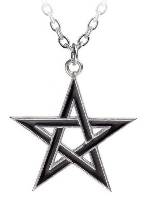 Black Star Pentagram Pendant with Chain at Gothic Plus, Gothic Clothing, Jewelry, Goth Shoes & Boots & Home Decor