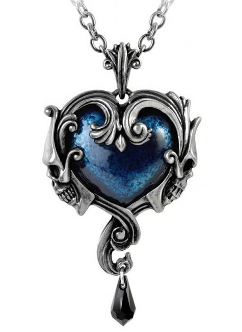 Affaire du Coeur Skull Heart Pendant at Gothic Plus,  Gothic Clothing, Jewelry, Goth Shoes, Boots & Home Decor
