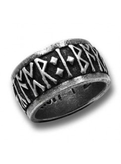 Runeband Pewter Ring Gothic Plus Gothic Clothing, Jewelry, Goth Shoes & Boots & Home Decor