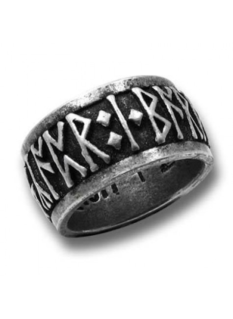 Runeband Pewter Ring at Gothic Plus, Gothic Clothing, Jewelry, Goth Shoes & Boots & Home Decor