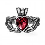 Claddagh by Night Pewter Ring