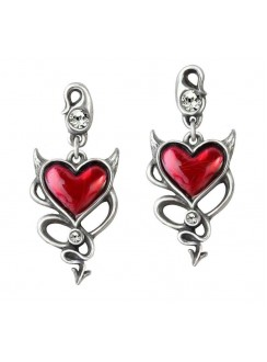 Devil Heart Earring Pair Gothic Plus Gothic Clothing, Jewelry, Goth Shoes & Boots & Home Decor