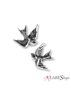 Swallow Stud Pewter Bird Earrings Gothic Plus Gothic Clothing, Jewelry, Goth Shoes & Boots & Home Decor