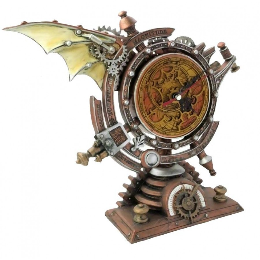 the stormgrave chronometer steampunk pedestal clock at gothic plus gothic clothing jewelry goth - Mantle Clock