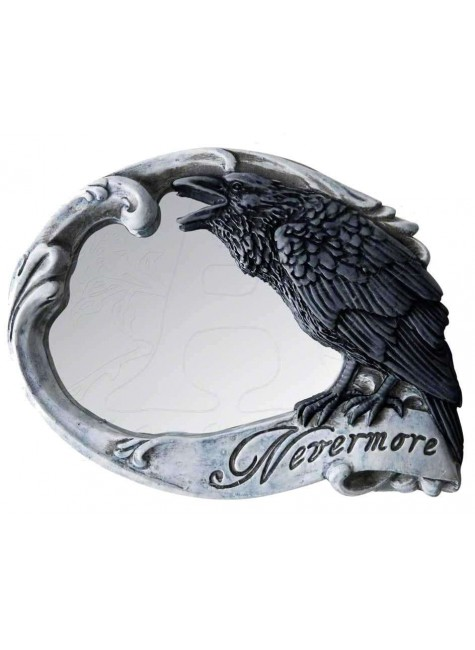 Nevermore Skull Raven Compact Makeup Mirror at Gothic Plus, Gothic Clothing, Jewelry, Goth Shoes & Boots & Home Decor