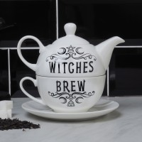 Witches Brew Triple Moon Tea Pot and Cup Set
