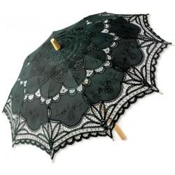 Black Battenburg Lace Parasol Gothic Plus Gothic Clothing, Jewelry, Goth Shoes & Boots & Home Decor