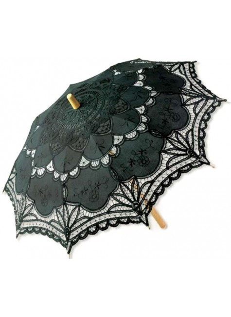 Black Battenburg Lace Parasol at Gothic Plus, Gothic Clothing, Jewelry, Goth Shoes & Boots & Home Decor
