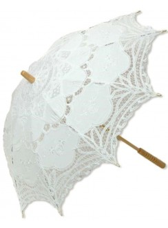 White Battenburg Lace Parasol Gothic Plus Gothic Clothing, Jewelry, Goth Shoes & Boots & Home Decor