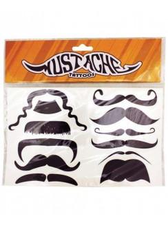 Mustache Temporary Tattoos