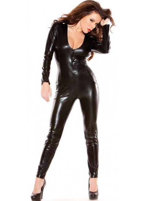 Kitten Wet Look Lycra Catsuit at Gothic Plus, Gothic Clothing, Jewelry, Goth Shoes & Boots & Home Decor