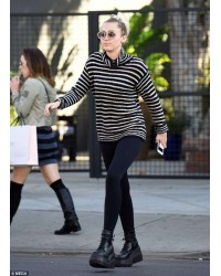 Miley Cyrus steps out in LA in Demonia Platform Boots