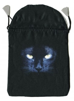 Black Cat Satin Tarot Bag Gothic Plus Gothic Clothing, Jewelry, Goth Shoes & Boots & Home Decor