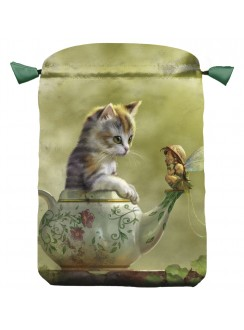 Fantasy Cat Satin Bag Gothic Plus Gothic Clothing, Jewelry, Goth Shoes & Boots & Home Decor