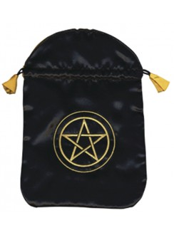 Pentacle Satin Bag Gothic Plus Gothic Clothing, Jewelry, Goth Shoes & Boots & Home Decor