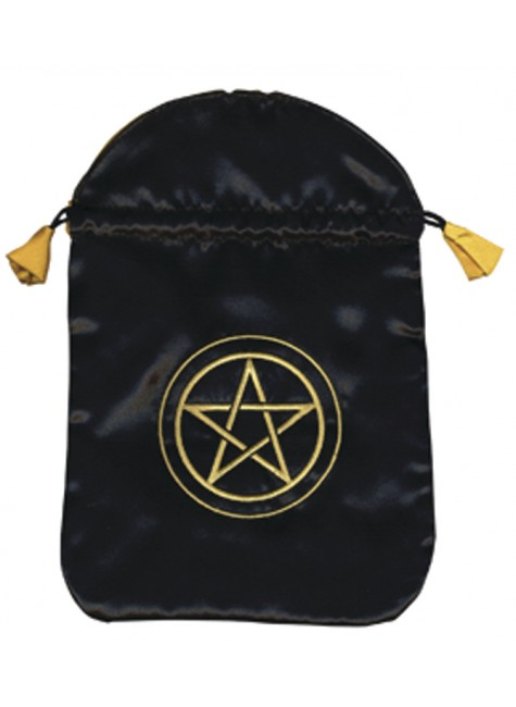 Pentacle Satin Bag at Gothic Plus, Gothic Clothing, Jewelry, Goth Shoes & Boots & Home Decor