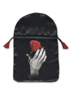Rose in Hand Satin Tarot Bag Gothic Plus Gothic Clothing, Jewelry, Goth Shoes & Boots & Home Decor