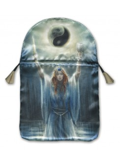 Sacred Priestess Printed Tarot Bag Gothic Plus Gothic Clothing, Jewelry, Goth Shoes & Boots & Home Decor