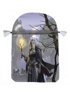 Witches Moon Satin Tarot Bag Gothic Plus Gothic Clothing, Jewelry, Goth Shoes & Boots & Home Decor