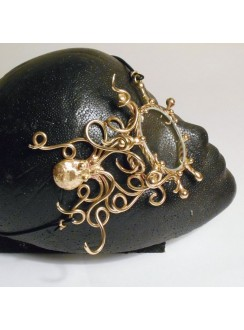 Octopus Bronze Steampunk Monocle Gothic Plus Gothic Clothing, Jewelry, Goth Shoes & Boots & Home Decor
