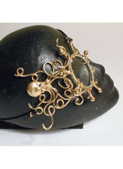 Octopus Bronze Steampunk Monocle at Gothic Plus, Gothic Clothing, Jewelry, Goth Shoes & Boots & Home Decor