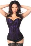 Lavish Purple Lace Overlay Overbust Corset