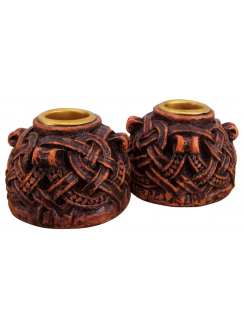 Celtic Knotwork Candleholder Pair