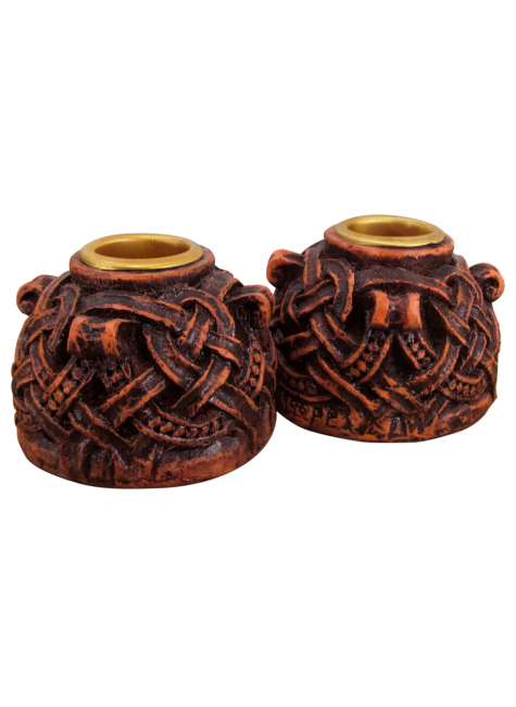 Celtic Knotwork Candleholder Pair at Gothic Plus, Gothic Clothing, Jewelry, Goth Shoes & Boots & Home Decor