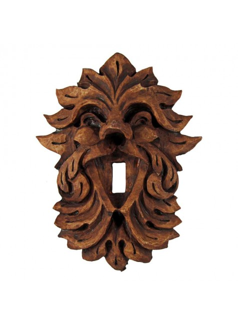 Laughing Leafman Green Man Switchplate at Gothic Plus, Gothic Clothing, Jewelry, Goth Shoes & Boots & Home Decor
