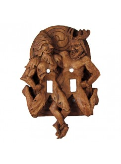 Green Man and Horned God Double Switchplate Gothic Plus Gothic Clothing, Jewelry, Goth Shoes & Boots & Home Decor